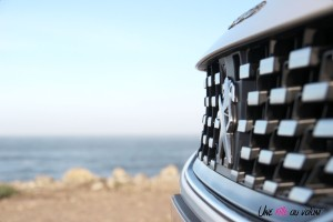 Peugeot 508 SW calandre détail blanc