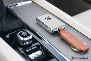 Volvo V60 console central clé détail