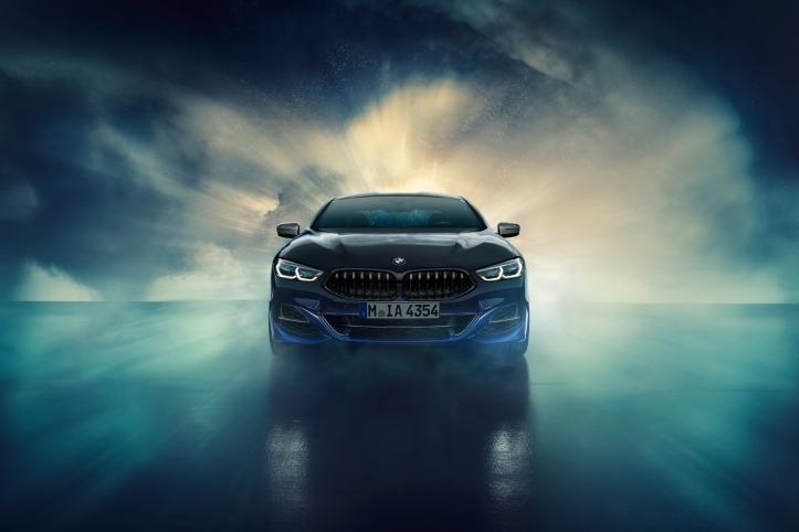 BMW M850i Night Sky avant feux calandre