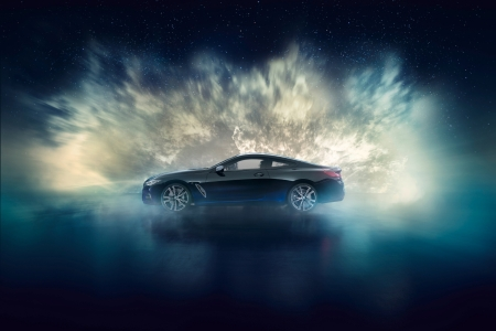 BMW M850i Night Sky profil jantes coupé
