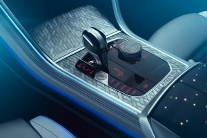 BMW M850i Night Sky boîte de vitesse console centrale
