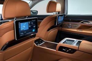 BMW Série 7 arrière intérieur sièges écran cuir