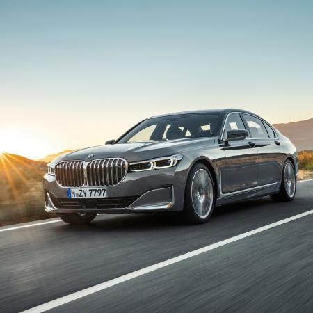 BMW Série 7 dynamique avant calandre feux