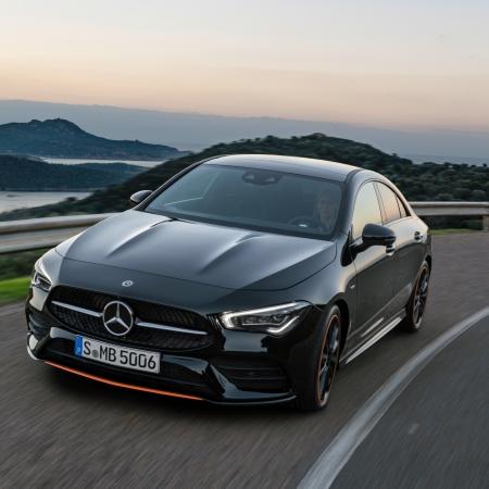 Mercedes CLA Coupé avant dynamique