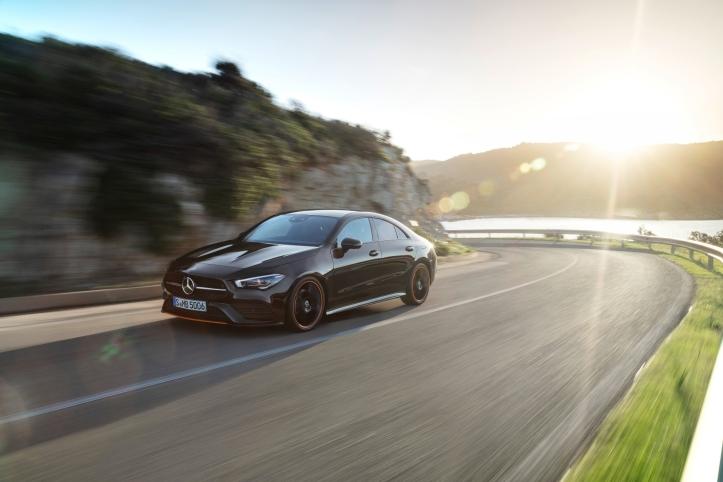 Mercedes CLA Coupé dynamique roues profil