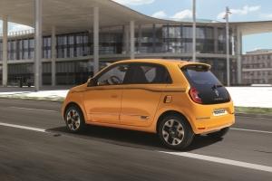 Renault Twingo arrière dynamique roues orange