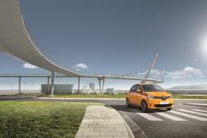 Renault Twingo citadine orange feux
