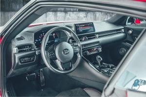 Toyota Supra intérieur volant écran