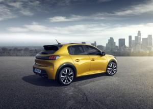 Peugeot 208 arrière citadine feux jaune