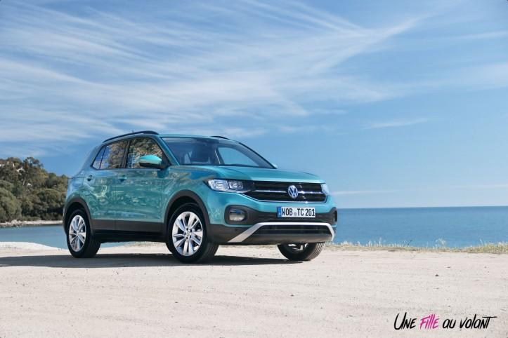Volkswagen T-Cross profil bleu jantes