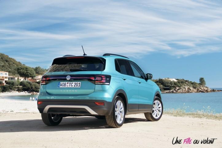 Volkswagen T-Cross 2019 arrière feux turquoise bouclier