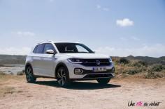 Volkswagen T-Cross 2019 R-Line blanc TSI 115 DSG jantes