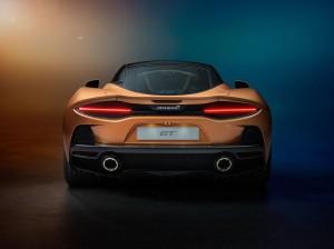 McLaren GT 2019 arrière feux échappement