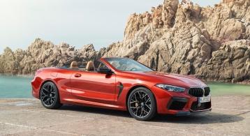 BMW M8 Competition Convertible cabriolet orange jantes