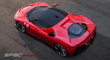 Ferrari SF90 Stradale toit moteur