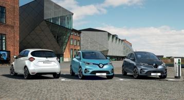 Renault Zoé gamme couleurs