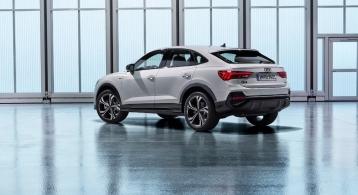 Audi Q3 Sportback 2019 profil arrière bouclier