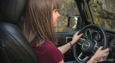Essai Jeep Wrangler Unlimited Rubiconmarie lizak volant détail