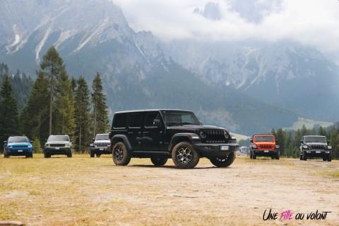 Jeep Wrangler Unlimited Rubicon 2019 noir jantes châssis long