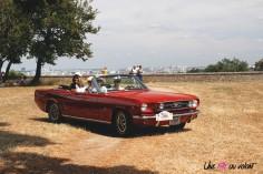 Traversée de Paris 2019 Ford Mustang cabriolet Meudon