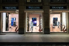 Fiat Panda City Cross Trussardi boutique Milan