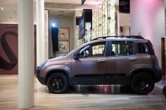 Fiat Panda City Cross Trussardi présentation milan profil boutique