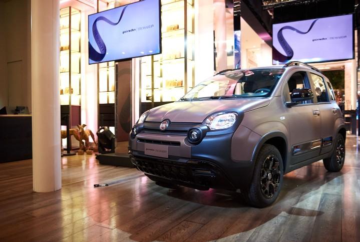 Fiat Panda City Cross Trussardi présentation Milan magasin mode