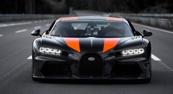 Bugatti Chiron 490 km/h 2019 face avant statique record SuperSport
