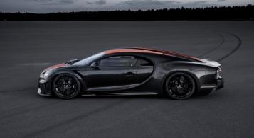 Bugatti Chiron 490 km/h 2019 profil prototype pneus