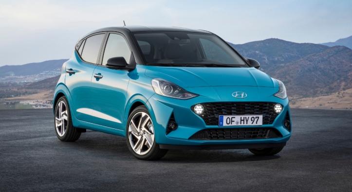 Hyundai i10 2019 face avant calandre statique