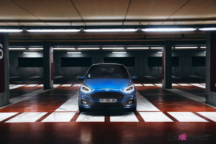 Essai Ford Fiesta ST 2019 face avant feux citadine sportive 1,5 litre turbo