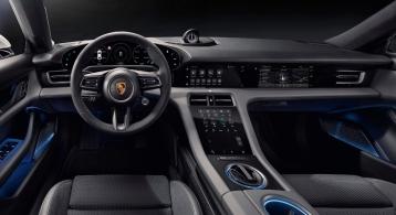 Porsche Taycan 2019 intérieur volant écran combiné