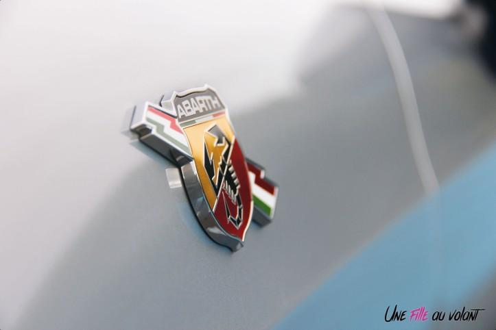 Essai Abarth 124 GT logo détail badge