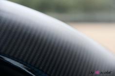 Essai Abarth 124 GT toit fibre de carbone détail