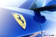 Road-Trip Ferrari Paris-Mulhouse GTC4 Lusso T détail logo