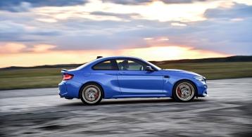 BMW M2 CS 2019 profil jantes 19 pouces coupé