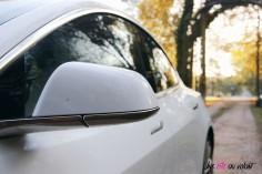 Essai Tesla Model 3 Performance 2019 rétroviseur détail