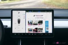 Essai Tesla Model 3 Performance 2019 intérieur écran tactile 15 pouces